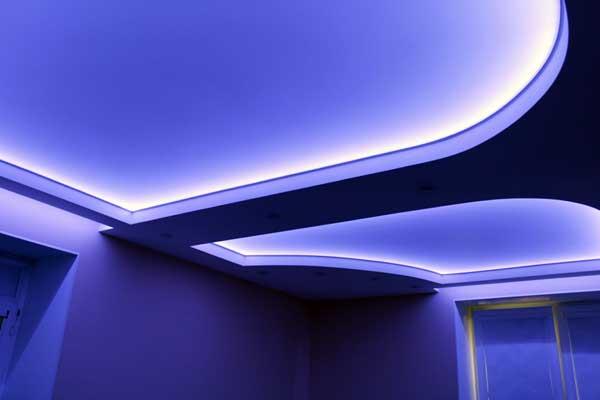 Светодиодные потолки своими руками фото